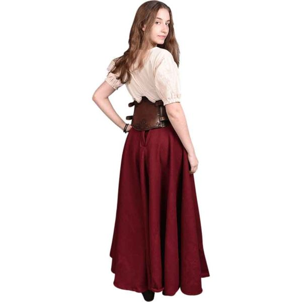 Floral Isolde Leather Bodice