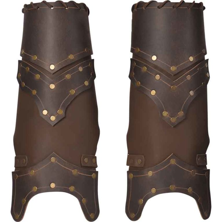 Scoundrel Leather Greaves