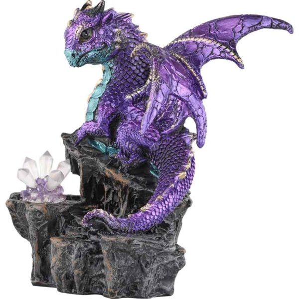 Purple Dragonling with LED Crystals