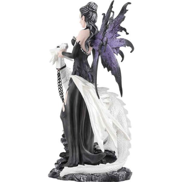 Gothic Fairy with Pet Dragon Statue