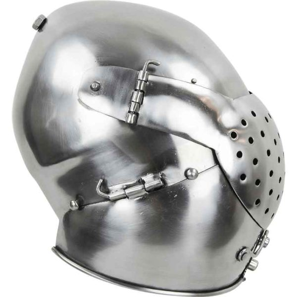 Medieval Bascinet with Face Plate
