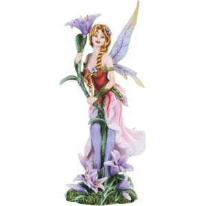 Blooming Lily Fairy Statue