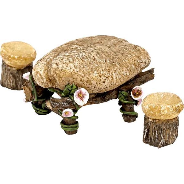 Mini Stone Table and Chairs Set