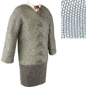 Full Sleeve Butted Chainmail Hauberk - Small