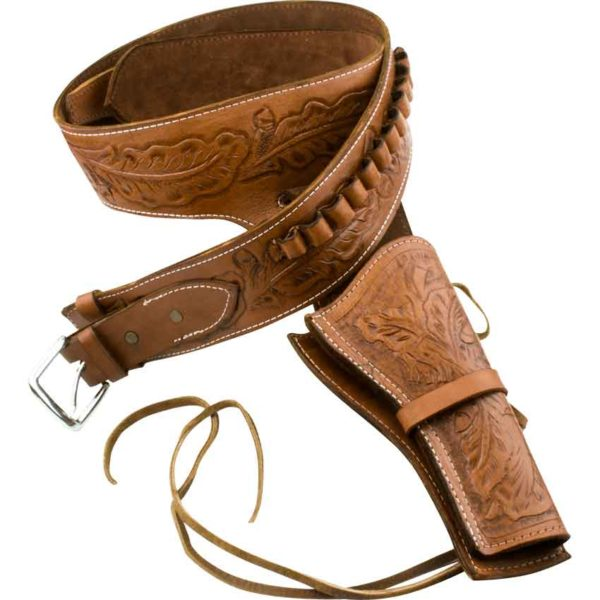 Deluxe Antiqued Tan Leather Holster