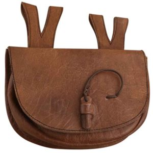 Brown Medieval Leather Belt Bag