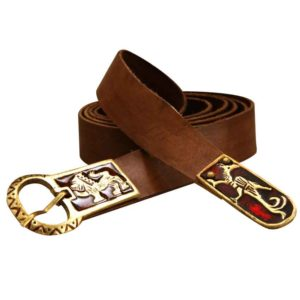 Norman Heraldry Leather Belt