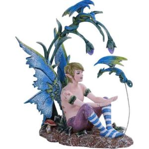Boy Fairy and Dragon Statue