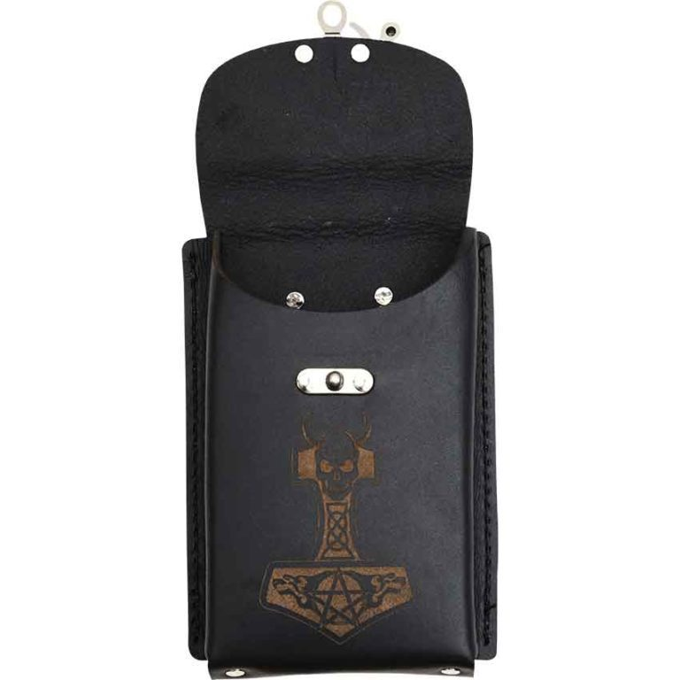 Viking Leather Phone Holder with Clasp