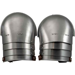 Knights Steel Pauldrons - Polished
