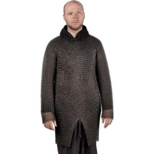 Blackened Butted Chainmail Hauberk