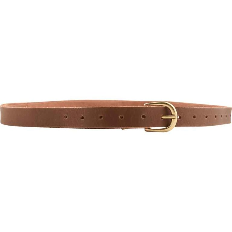 Medieval Leather Buckle Belt - Brown
