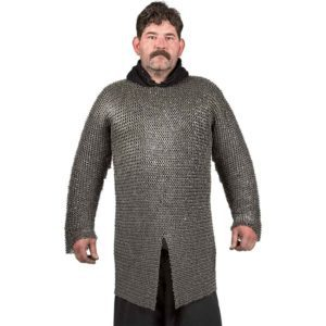 Round Ring Round Riveted Chainmail Hauberk