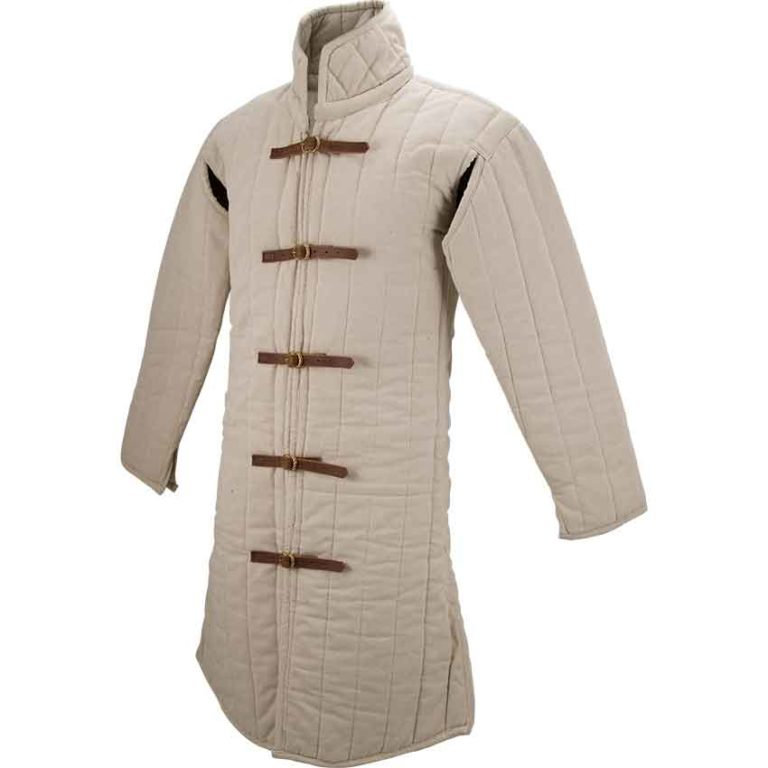 Medieval Gambeson – Ecru