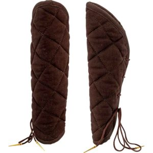 Medieval Padded Bracers - Brown