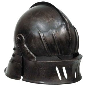 Gothic Sallet Helmet – Dark Metal Finish