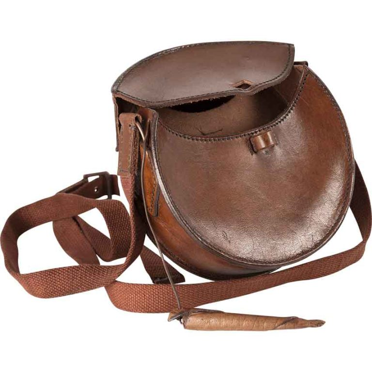 Round Leather Bag
