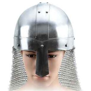 Medieval Saxon Nasal Helm with Aventail