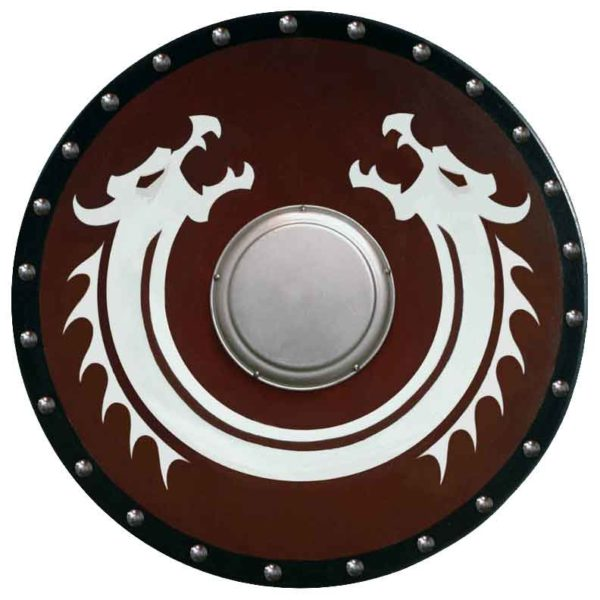 Round Viking Dragon Shield with Boss