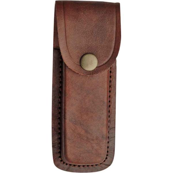 5 Inch Brown Plain Leather Sheath