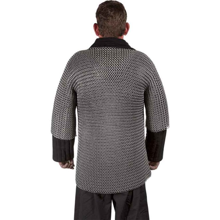 Aluminum and Rubber Half Sleeve Chainmail Hauberk