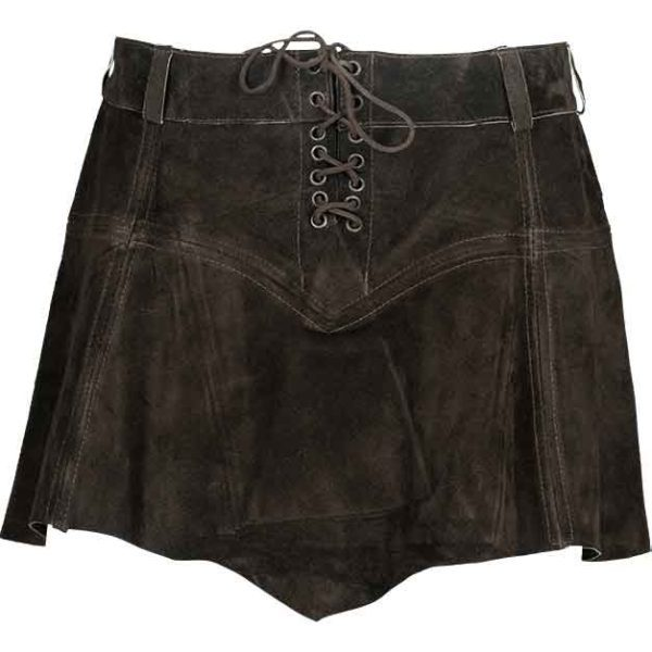 Nuala Suede Leather Skirt
