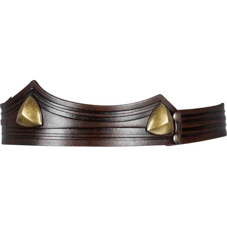 Isidor Studded Leather Crown