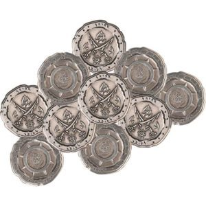 Set of 10 Silver Orc LARP Coins