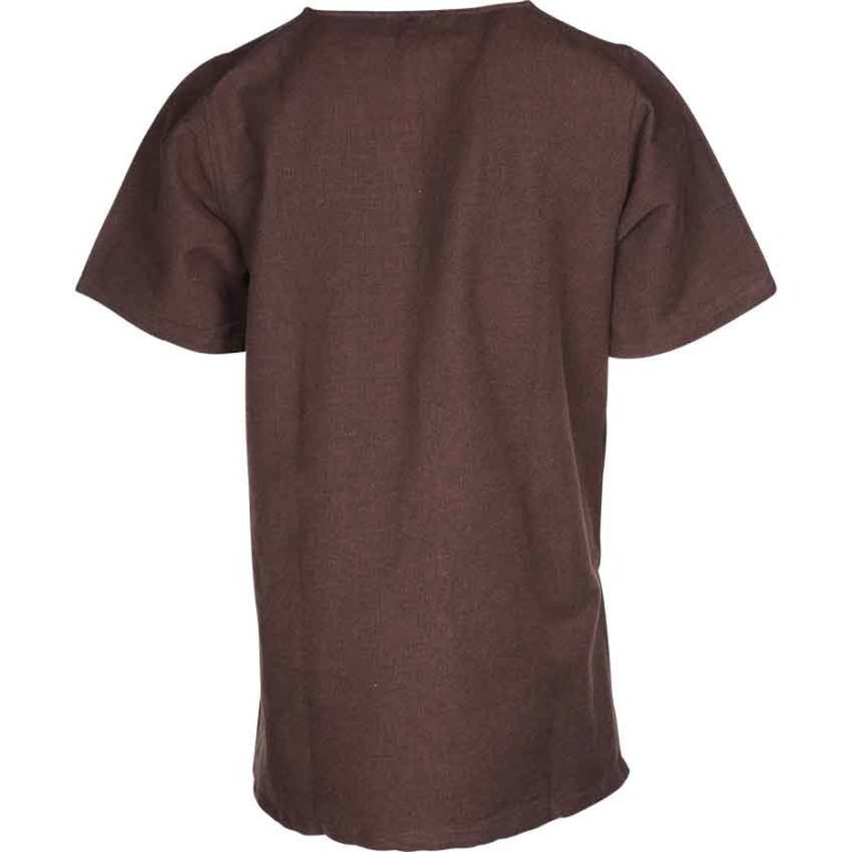 Mens Half Sleeve Viking Undertunic - Brown