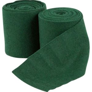 Woolen Leg Wraps - Green