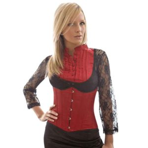 Candy Red Satin Underbust Corset