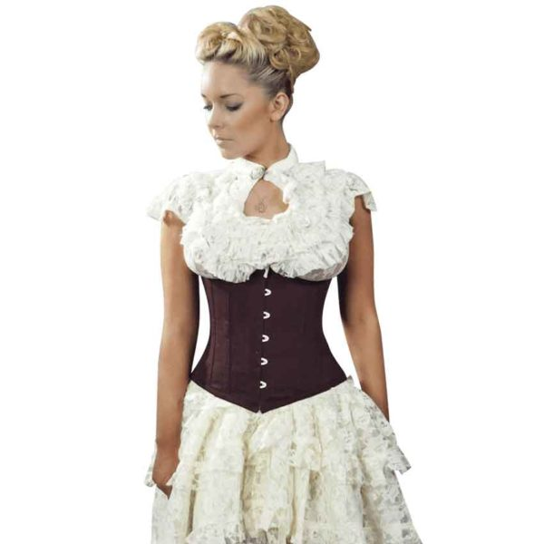 Candy Brown Twill Underbust Corset