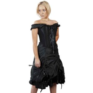Dita Black Taffeta Corset Dress
