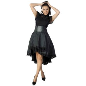 Julia Black Taffeta Skirt
