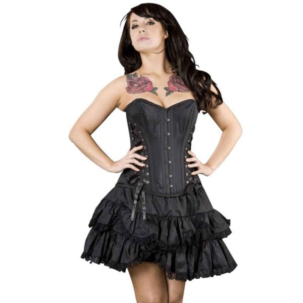 Sophia Black Taffeta Mini Skirt