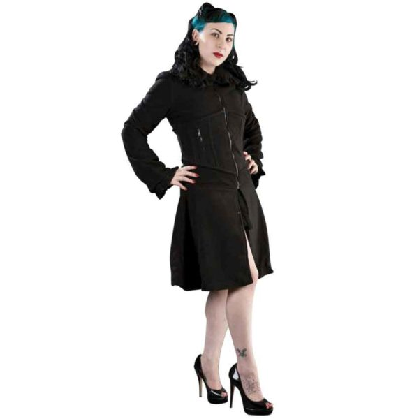 Fatal Lady Black Fleece Coat