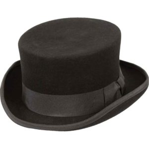 Low Rise Wool Top Hat