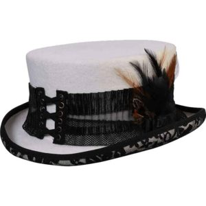 White Lightning Steampunk Hat