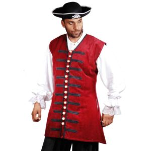 Pirates Captain England Elegant Long Vest