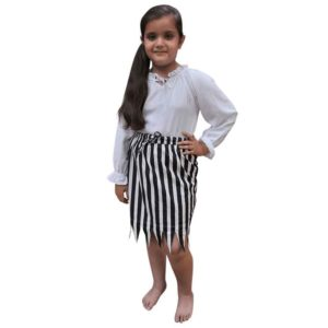 Girls Jagged Striped Pirate Skirt