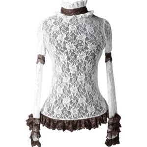 Steampunk Floral Lace Top