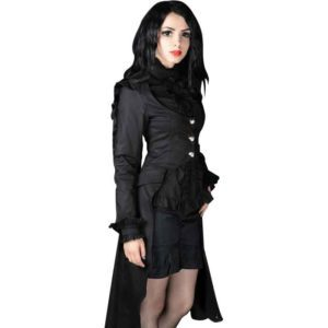 Gothic Long Black Buttoned Coat