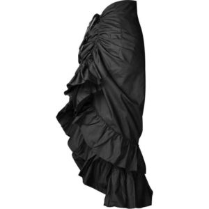 Gothic Black Layered Bustle Skirt
