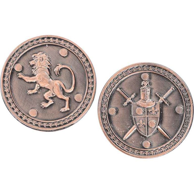 Set of 10 Copper King LARP Coins