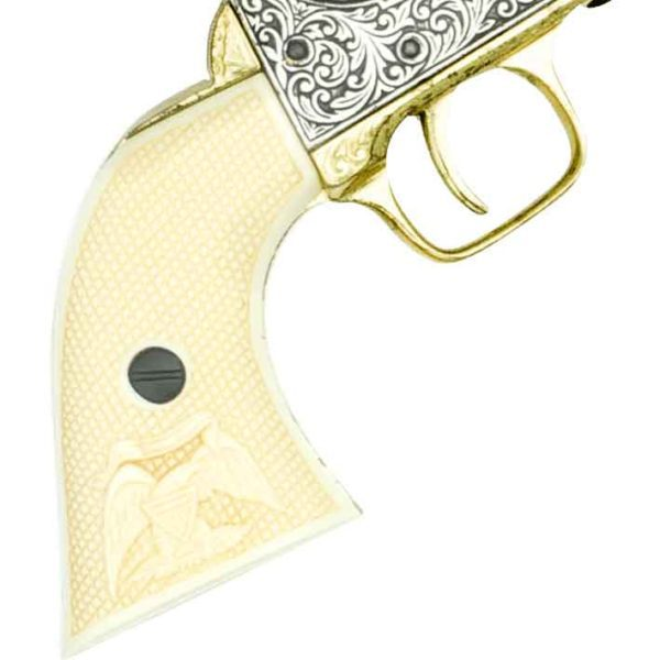Polished Gold and Nickel M1851 Navy Revolver