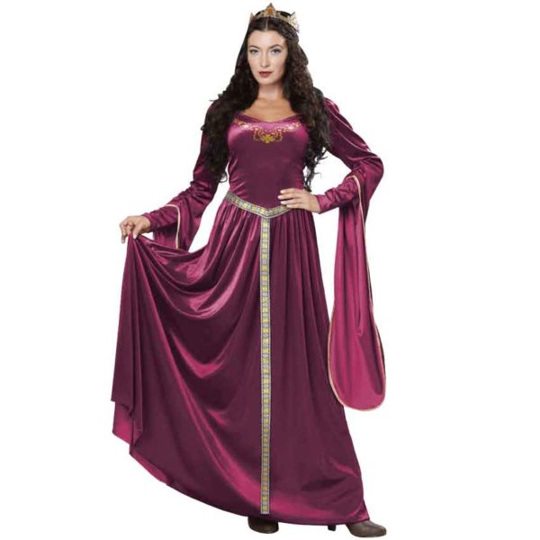Womens Magenta Lady Guinevere Costume