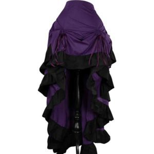 Purple Layered Bustle Skirt