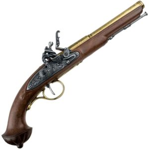 18th Century Antique Brass Flintlock Pistol