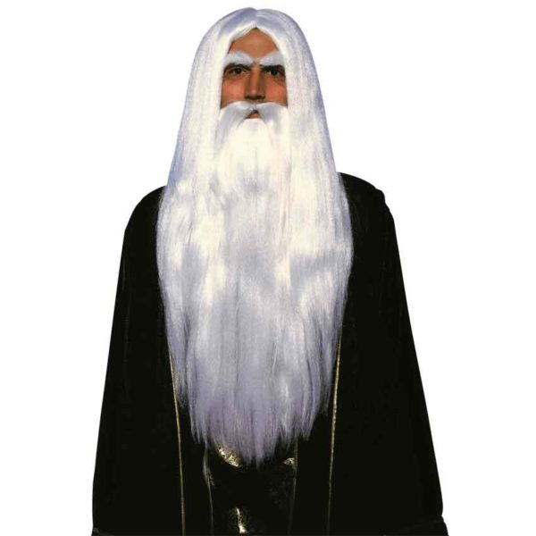 Merlin's Wizard Wig and Beard Set