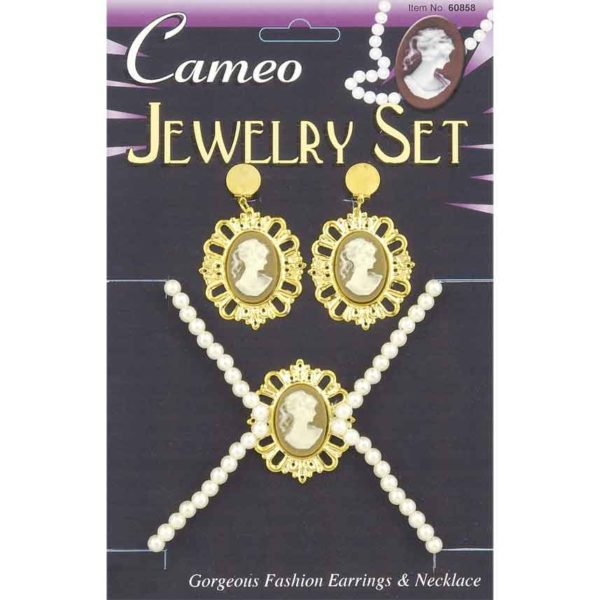 Cameo Necklace And Earring Set